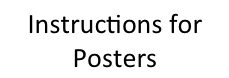 instructions for posters